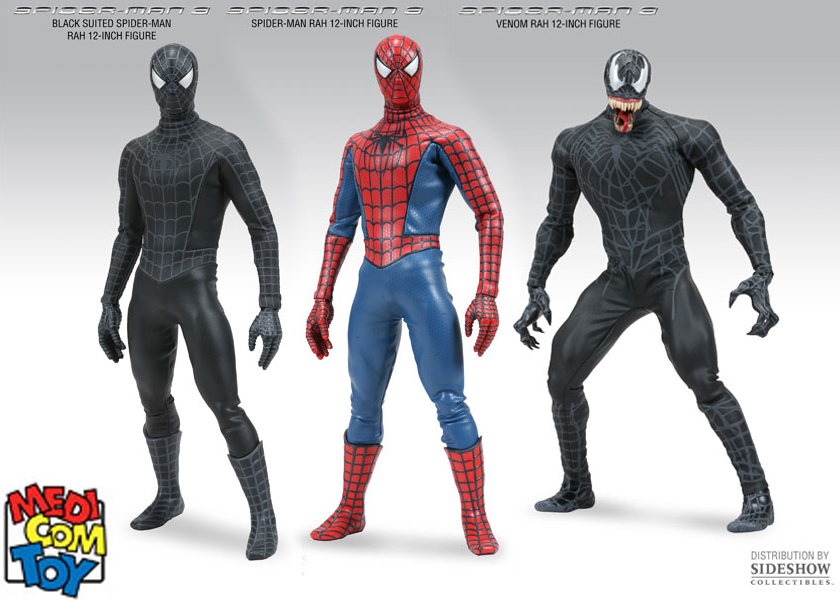 Spiderman 3 - Set of all 3 - 12 Inch Figures